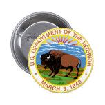 Interior Department Pinback Button