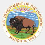 Interior Department Round Stickers