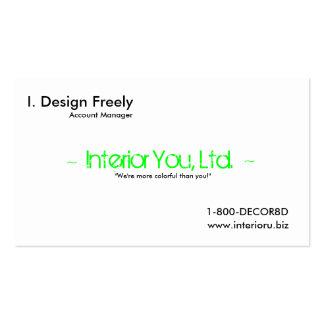 Interior Design Advert Card Business Card