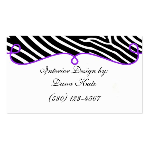 interior design business card classy chic sassy