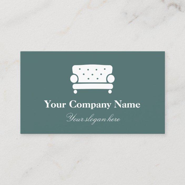 Interior Design Company Logo Elegant Chair Business Card Zazzle Com