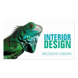 Interior design designer chameleon business card