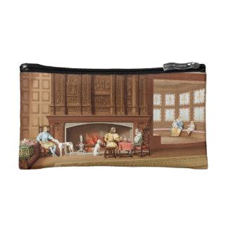 Interior Design Elizabethan Fireplace Vintage 1800 Makeup Bag