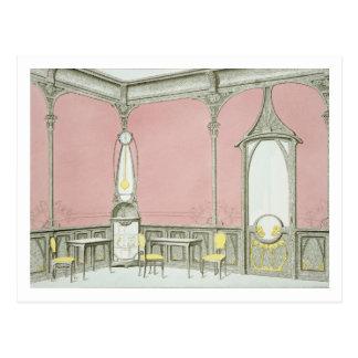 Interior design for a brasserie, illustration from postcard