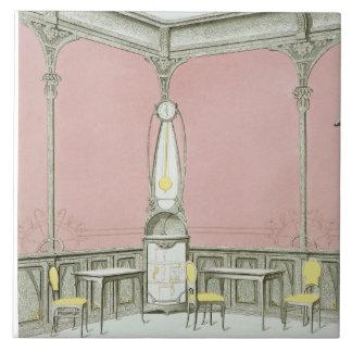 Interior design for a brasserie, illustration from tile