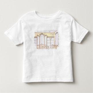Interior design for a fashion shop, illustration f toddler t-shirt