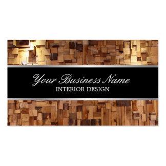 Interior Design Modern Wood Contemporary Business Card