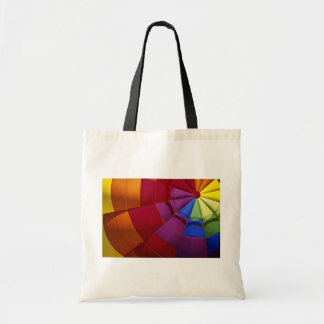 Interior design of inflated hot air balloon tote bag