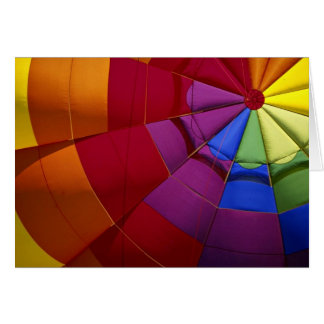 Interior design of inflated hot air balloon greeting card