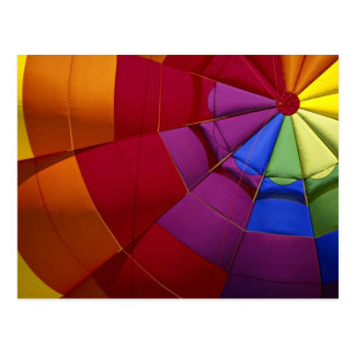Interior design of inflated hot air balloon postcard