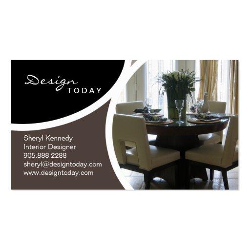 Interior Design Staging Modern Business Card Zazzle