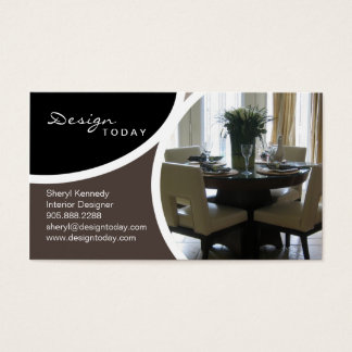 Interior Design Staging Modern Business Card