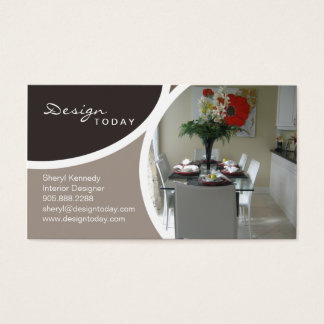 Interior Design Staging Modern Business Card 2