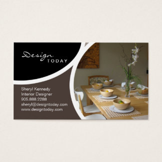 Interior Design Staging Modern Business Card 4