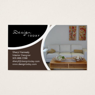Interior Design Staging Modern Business Card 5