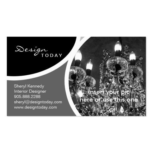 Interior Design Template Business Card Chandelier