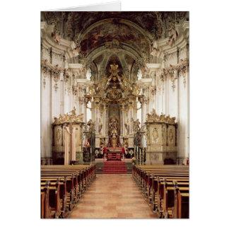 Interior, designed by Balthasar Neumann  1734-54 Card