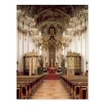 Interior, designed by Balthasar Neumann  1734-54 Postcard
