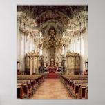 Interior, designed by Balthasar Neumann  1734-54 Poster