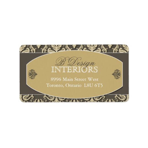 Interior designer address labels zazzle for Interior designer address