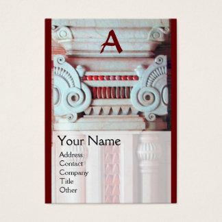 INTERIOR DESIGNER, ARCHITECTURE Monogram, Business Card