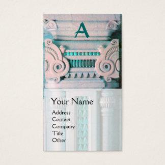 INTERIOR DESIGNER, ARCHITECTURE Monogram,green Business Card