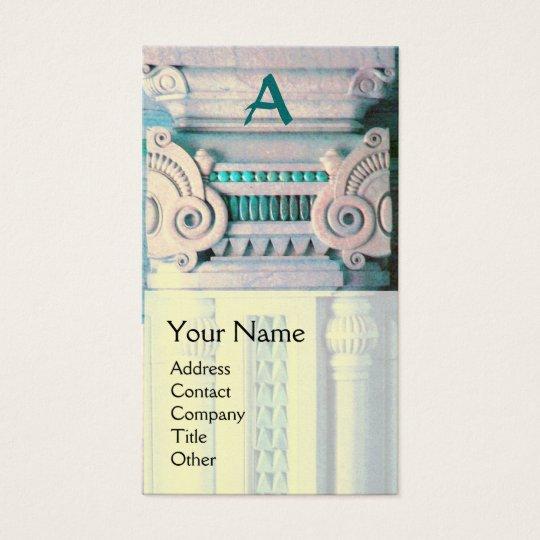INTERIOR DESIGNER, ARCHITECTURE Monogram,pearl Business Card