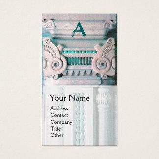 INTERIOR DESIGNER, ARCHITECTURE Monogram,silver Business Card