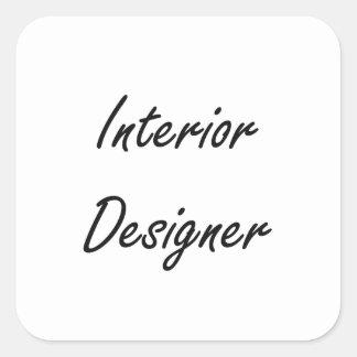 Interior Designer Artistic Job Design Square Sticker