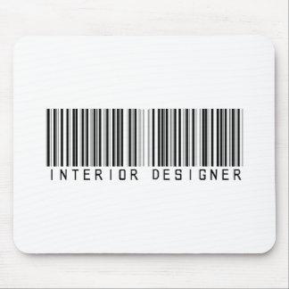Interior Designer Bar Code Mouse Pad