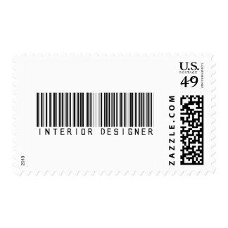 Interior Designer Bar Code Postage Stamps