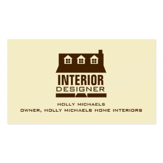 Interior Designer - Brown Cape Style House Business Card Templates