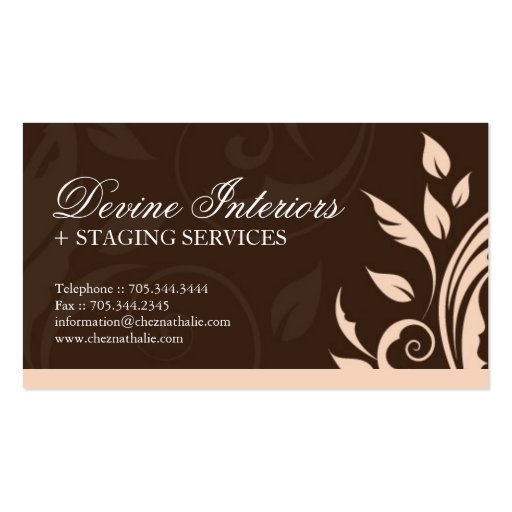 interior designer business card zazzle