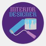 Interior Designer Classic Round Sticker