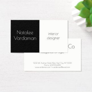 Interior Designer customizable simple elegant Business Card