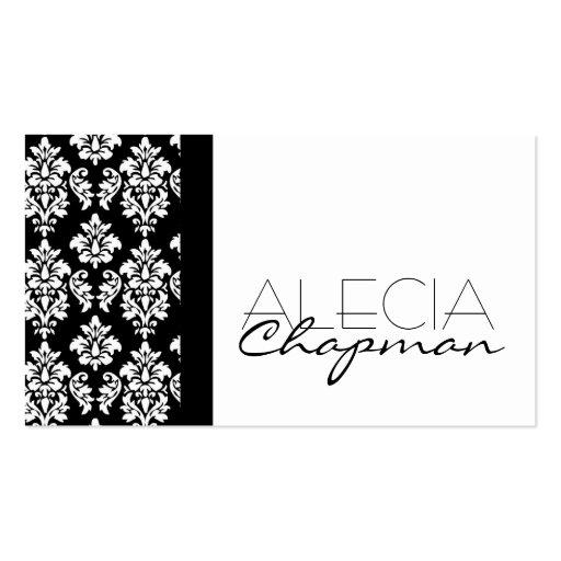 Interior Designer Damask Elegant Business Card from Zazzle.com