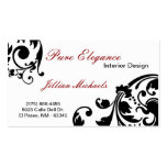 Interior Designer Damask Filigree Business Card