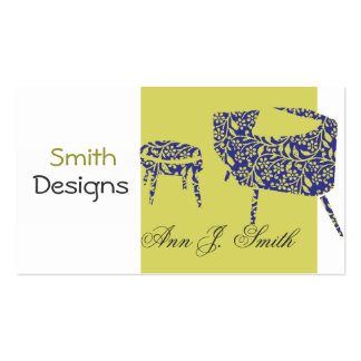 Interior Designer Decor Green Promotional Modern Business Card