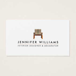 Interior Designer Decorator Business Card