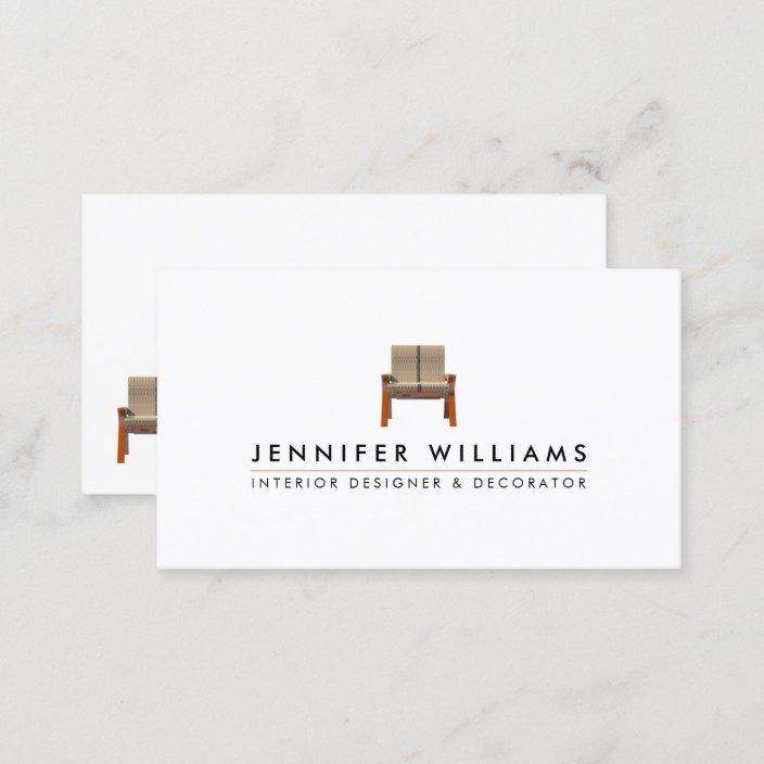 Interior Designer Decorator Business Card Zazzle Com