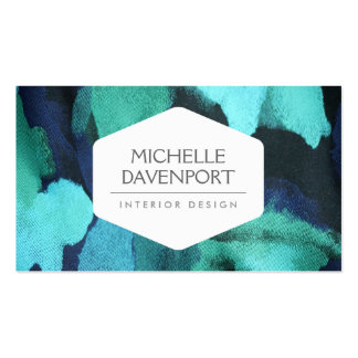 INTERIOR DESIGNER, DECORATOR, FLORAL FABRIC Double-Sided STANDARD BUSINESS CARDS (Pack OF 100)