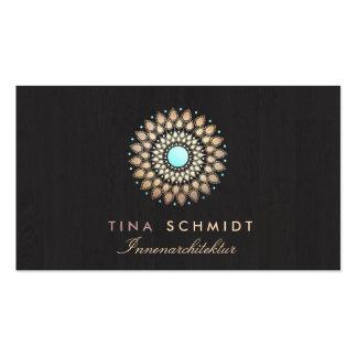 Interior Designer Elegantes Gold Motiv Visitenkart Business Card Templates