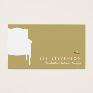 Interior Designer French Chair  Business Card