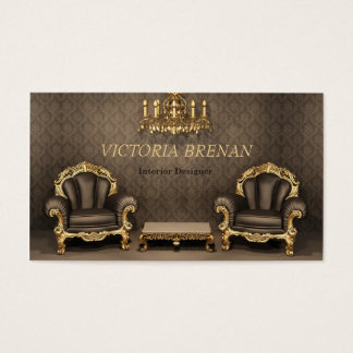 Interior Designer Furniture Decorator Classic Home Business Card