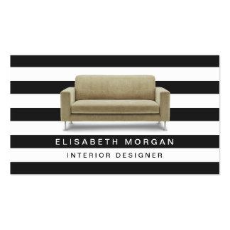 Interior Designer Home Staging - Classic Stripes Business Card