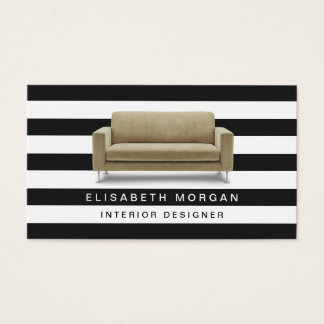 Interior Designer Home Staging - Classic Stripes Business Card