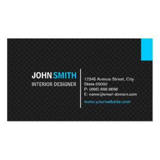 Interior Designer - Modern Twill Grid Double-Sided Standard Business Cards (Pack Of 100)