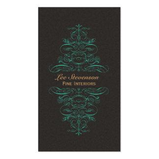 Interior Designer Ornate Scrolls Business Card