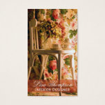 Interior Designer , Provence, Furniture Decorator Business Card