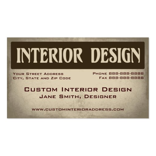 interior designer remodeling business card zazzle